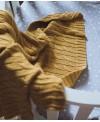 Musztardowy kocyk bambusowy