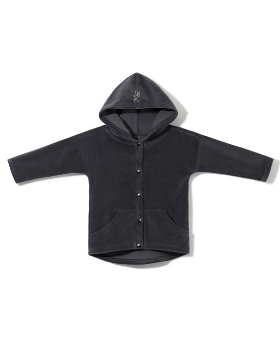 Velour OVERSIZED HOODIE with snaps (92-110)
