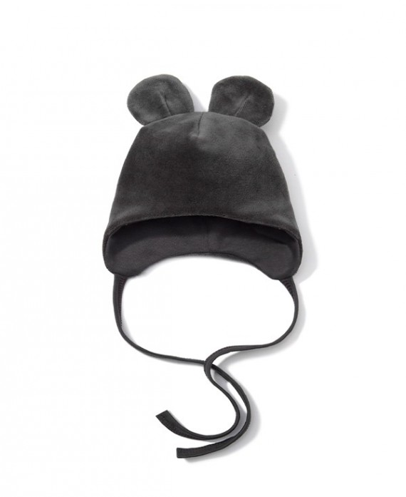 Velour newborn hat with ears